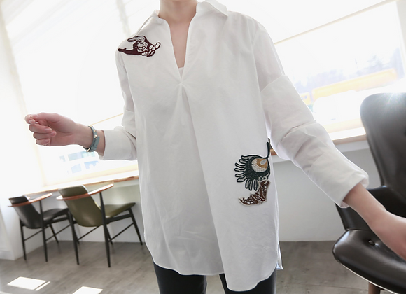 Kara Embroidered White Shirt