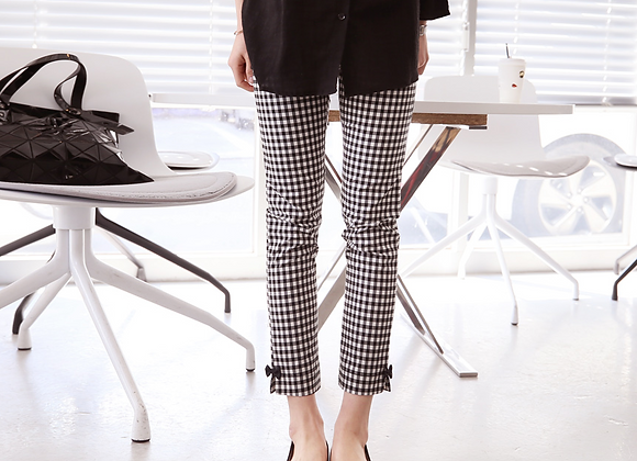 CoCo Ribbon Chequered Pantalon