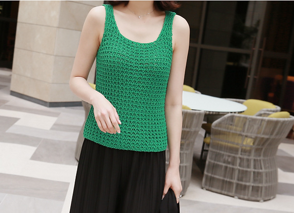 Cotton Sleeveless Knit Top