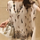 Thumbnail: Cap Sleeved Leaves Pattern Tunic Top