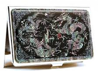 Anti Scan Credit Card Case with Double Dragon Design