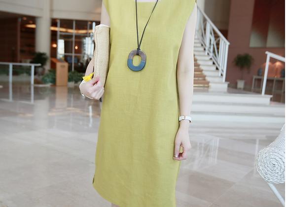 Retro Style Linen Sleeveless Dress
