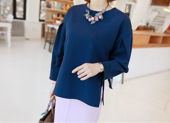 Side-By-Side Ribbon Point Tunic Top