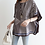 Thumbnail: Geometric Pattern Cape Style Tunic Top