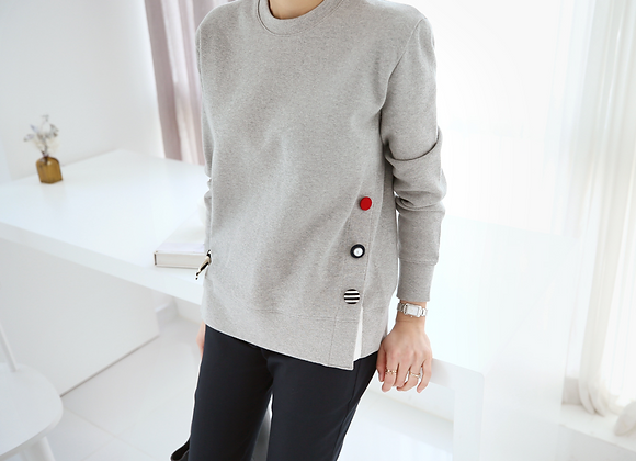Fashionable Side-Button-Point Jumper