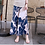 Thumbnail: Palm Tree Design Stretchable Wide Pants