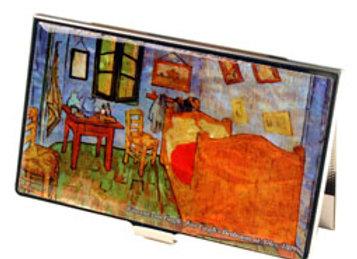 Mother of Pearl Credit Card Holder Wallet with Bedroom in Arles by Van Gogh