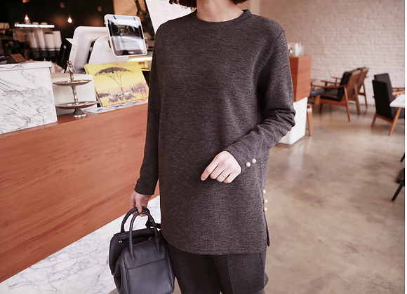 Elegant H-Line Pearl Knit Jumper