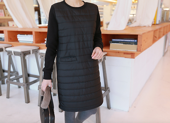 Chic H-Line Padding Tunic Dress