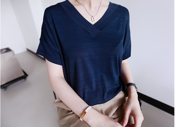 Daily Cozy V-Neck Short Sleeve T-Shirt