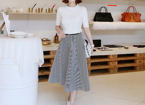 Romantic Nostalgic Flared Skirt