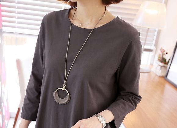 Unique Leather Circle Necklace
