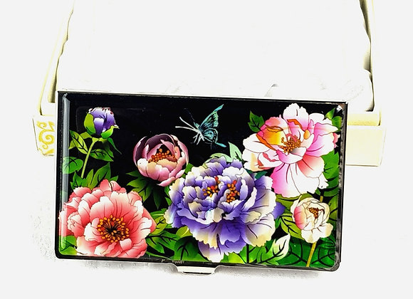 Anti-Scan Credit Card Holder Wallet with Magnolia Blossom Design