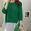 Thumbnail: Two Color Frilled Inner Top & Back-Slit Knit Top Set