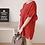 Thumbnail: Frilled Short Sleeve Linen Tunic Top
