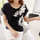 Thumbnail: Pearl and Embroidered Flower Motif Cotton Top