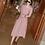 Thumbnail: Short Sleeve 3/4 Length Pleated Dress
