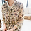 Thumbnail: C-Through Flower Patterned Blouse with Pleated Front Frill