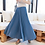 Thumbnail: Long Skirt Style Wide Pleated Pants