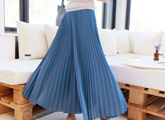 Long Skirt Style Wide Pleated Pants