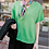 Thumbnail: Bright Short-Sleeved Knit Top