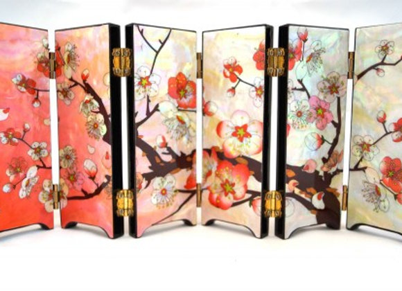 Mother of Pearl Mini Screen with Plum Blossom Design