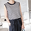 Thumbnail: Sleeveless Stripe Knit Top