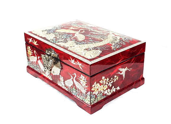 Rectangular Chest Jewellery Box with Double Compartment