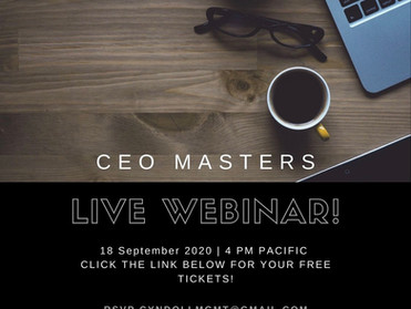 CEO MASTERS! Today is the day!