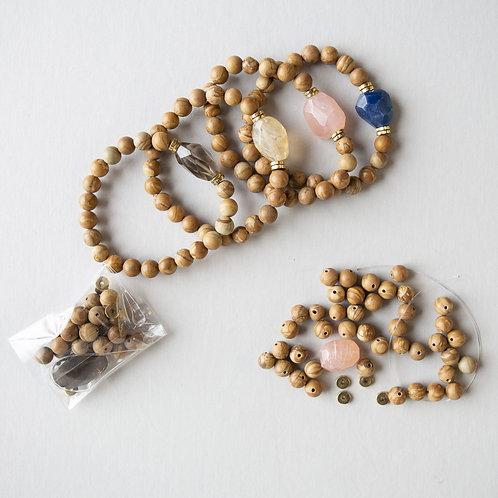 DIY Jasper/Gemstone Bracelet Kit