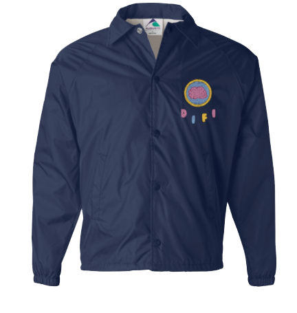 brain badge coach jacket with name
