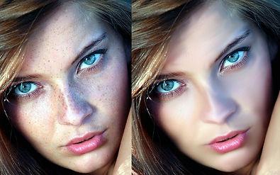 Skin retouching and photo editing