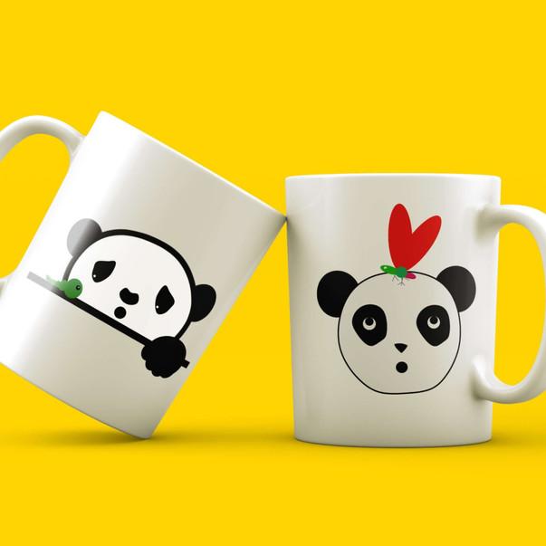 Panda clipart mug