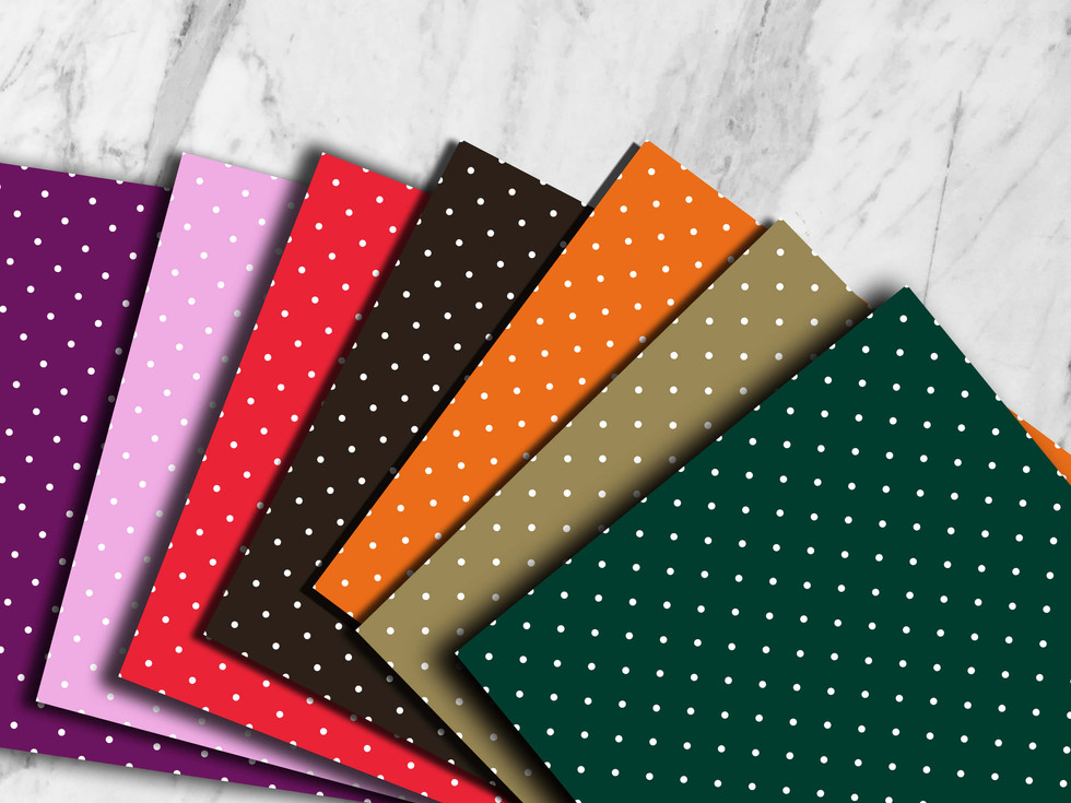 Polka Dots Printable Digital Papers