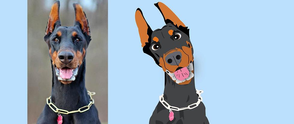 Doberman Pet disney portrait.jpg
