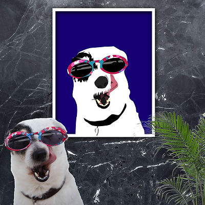 Swag doggo portrait wall art compressed.