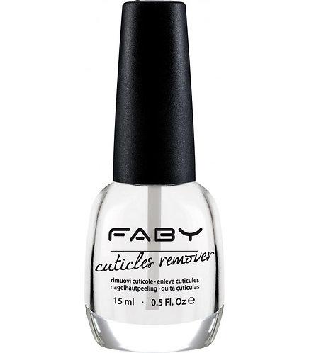 Quitacuticulas Cuticle remover Faby 15ML