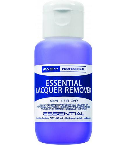 Removedor esmaltado permanente Essential lacquer 50ml Faby