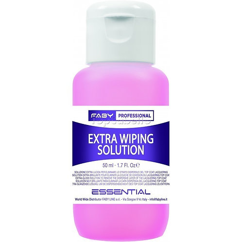 Finalizador extra brillo wiping solution 50ml Faby