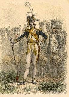 Tambour-Major des Grenadiers de la Garde Impériale (Dessin de Denis Raffet)