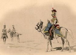 Trompette du 2ème Régiment de Chevau-légers de la Garde - 1809.