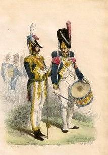 Tambour-Major des Grenadiers à pied de la Garde Impériale (H. Bellangé).