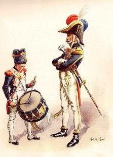 Tambour-Major et petit Tambour des Genadiers à pied de la Garde Impériale.