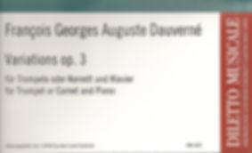 FGA Dauverné : Variations pour trompette & piano