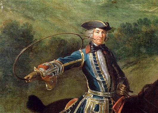 Louis XV chassant le cerf à Saint-Germain-en-Laye (1730). Tableau de Jean-Baptiste Oudry (1686-1755) – Musée des Augustins (Toulouse).