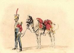 Trompette du 1er Régiment de Chevau-légers de la Garde -1810.