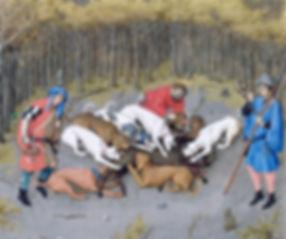 Les Très riches heures du Duc de Berry : Mois de décembre (1440).