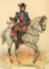 Trompette du Régiment La Reine - 1730