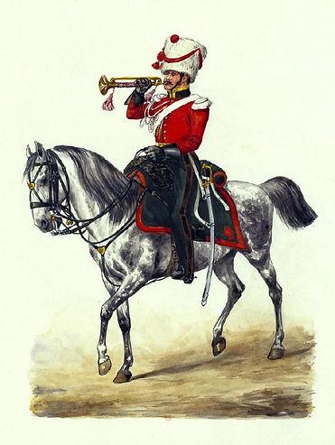 Trompette du 4ème Régiment de Chasseurs à cheval du Grand Duché de Varsovie.