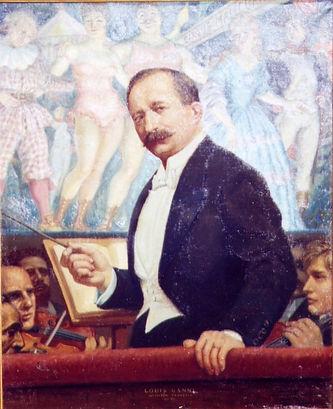 Louis Ganne, chef d'orchestre à l'Opéra